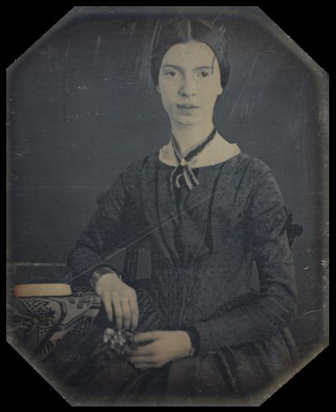 489px-Black-white_photograph_of_Emily_Dickinson2