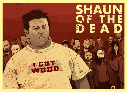 Shaun of the Dead Poster Ed - Nick Frost