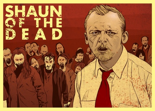Shaun of the Dead Poster Shaun - Simon Pegg