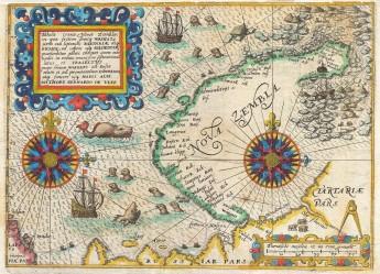 1601_De_Bry_and_de_Veer_Map_of_Nova_Zembla_and_the_Northeast_Passage_-_Geographicus_-_NovaZembla-debry-1601