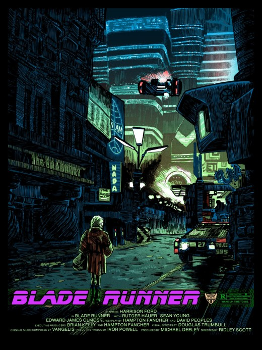 Blade Runner We Scared Each Other Pretty Good Variant by Mondo Artist Tim Doyle Reel Cinema Screen Prints Alternative Movie Poster
