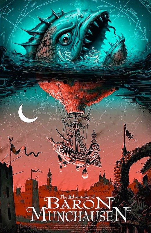 munchausen silkscreen movie poster artist Jeff Soto