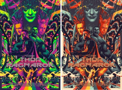 Thor Ragnarok Movie Poster Screen Print by Matt Taylor