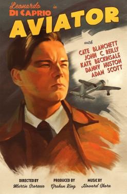 the aviator retro poster