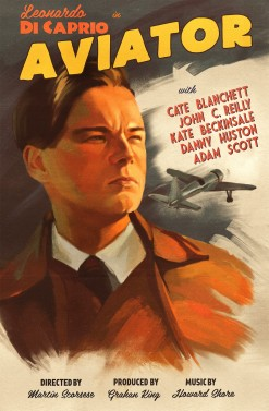 the aviator retro poster