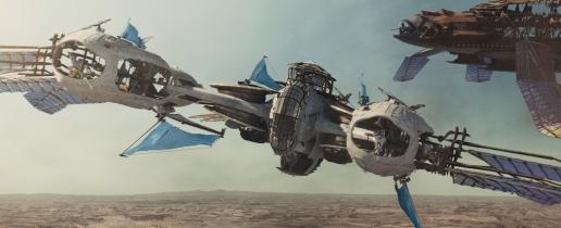 """""""JOHN CARTER"""" Airship ©2011 Disney. JOHN CARTER™ ERB, Inc."""