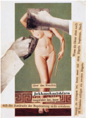 Willi Baumeister, Jokkmokmädchen, 1941, collaged after Terpsichore, a painting by Hitler_s favourite painter,Adolf Ziegler.