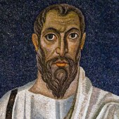 Apostle-Paul-man-6th-7th-cent-moasic-by-Lawrence-Lew-flickr