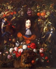 Jan_davids_de_heem-fleurs_avec_portrait_guillaume_III_d'Orange