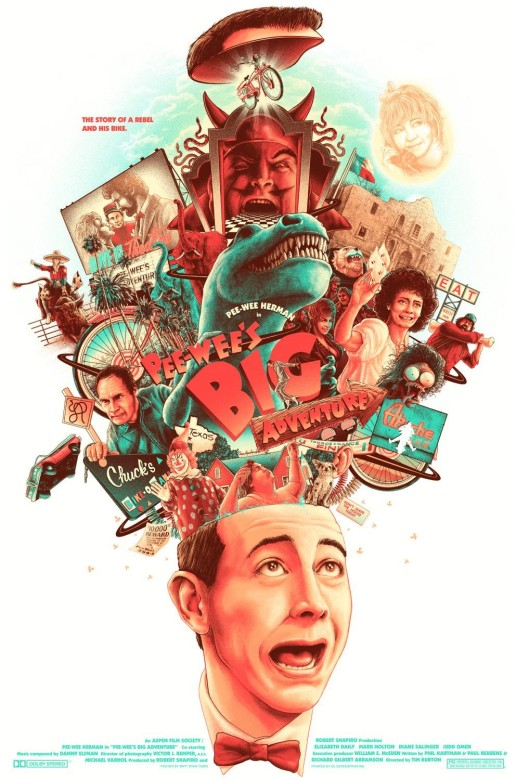 pee wee s big adventure poster