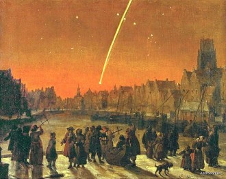 great comet of 1680 over rotterdam